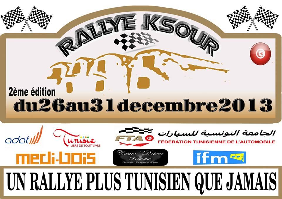 Rallye Ksour 2ème édition du 27 au 30 décembre 2013